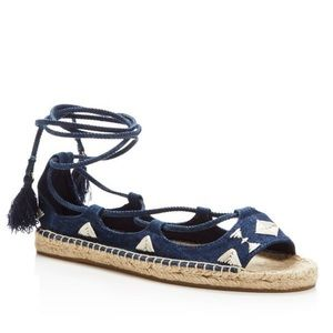 Soludos || Biarritz Embroidered Laceup Espadrille
